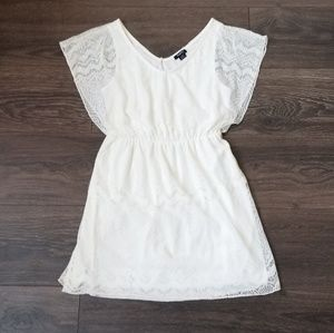 Philosophy lace flutter sleeve baby doll dress